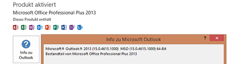 Outlook Version ermitteln